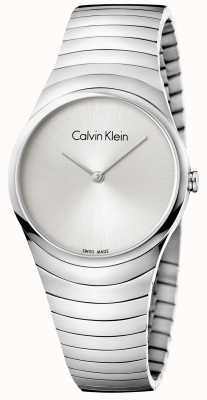 Calvin Klein Womans Silver Stainless Steel Whirl Watch K8A23146