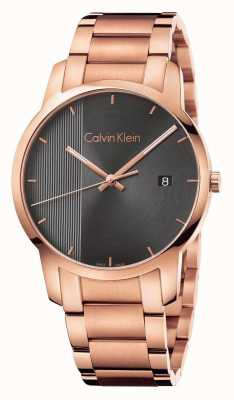 Calvin Klein Womans Rose Gold Plated City Watch K2G2G643
