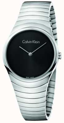 Calvin Klein Womans Silver Stainless Steel Whirl Watch K8A23141