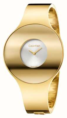 Calvin Klein Womans Gold Tone Seamless Watch Small K8C2S516