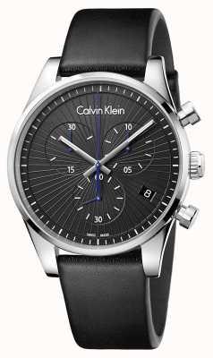 Calvin Klein Unisex Steadfast Chronograph Black K8S271C1