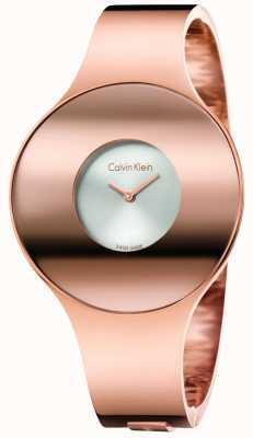 Calvin Klein Womans Rose Gold Tone Seamless Watch Medium K8C2M616