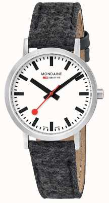 Mondaine Unisex Swiss Railways Classic Dark Grey Felt Leather Strap A6603031416SBH