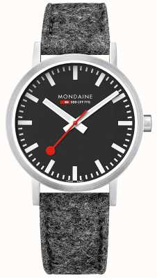 Mondaine Unisex Swiss Railways Classic Dark Grey Felt Leather Strap A660.30360.14SBH