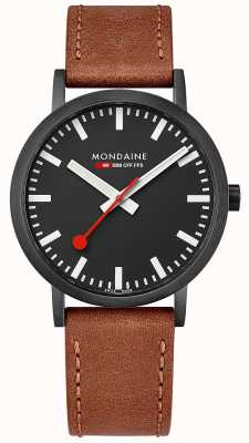 Mondaine Unisex Swiss Railways Classic Brown Leather Strap A660.30360.64SBG