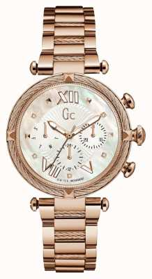 Gc Womans Cablechic Precious 2 Tome Rose Gold Tone Y16114L1