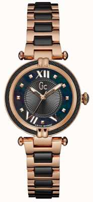 Gc Womans Cablechic Sport Analoge Rose Gold Black Y18013L2