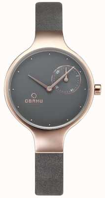 Obaku Womans Eng Pebble Grey Watch v201LDVJRJ