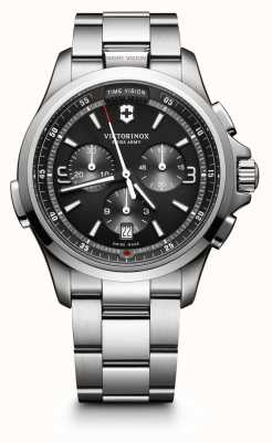 Victorinox Swiss Army Mens Night Vision Chronograph Dark Grey 241780