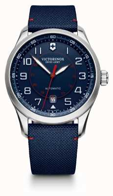 Victorinox Swiss Army Mens Airboss Mechanical Limited Edition Blue Dial Strap 241792