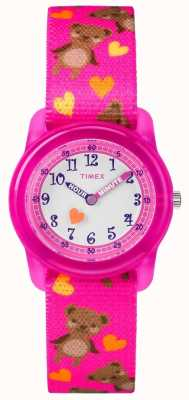 Timex Youth Analogue Pink Strap Bears TW7C16600