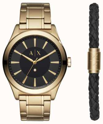 Armani Exchange Mens Nico Two Tone Bracelet Gift Set AX7104