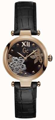 Gc Womens Chic Black Leather Watch Y31007L2