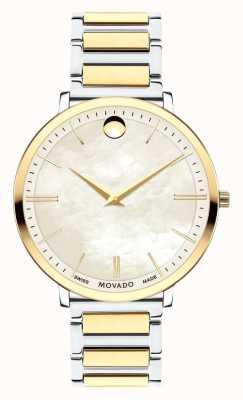 Movado Women's Ultra Slim Two Tone Watch 0607171