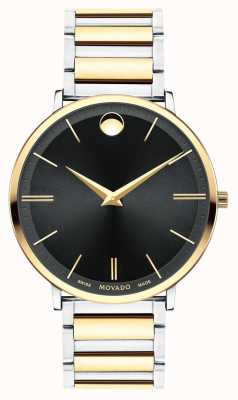 Movado Mens Ultra Slim Two Tone Watch 0607169
