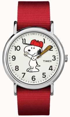 Timex Red Strap Snoopy Watch TW2R414006B