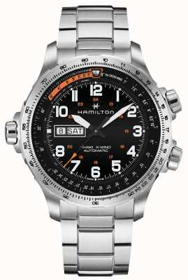 Hamilton Mens Khaki Aviation X-Wind Day Date H77755133