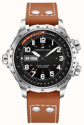 Hamilton Men's Khaki Aviation X-Wind Day Date H77755533