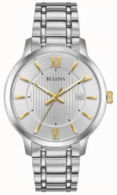 Bulova Mens Classic Stainless Steel Dress Watch 98B306
