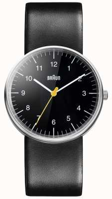 Braun Unisex Black Leather Watch BN0021BKG