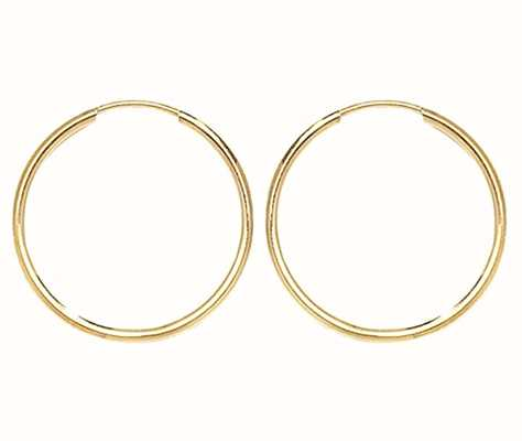 James Moore TH 9k Yellow Gold 18mm Sleepers ES112