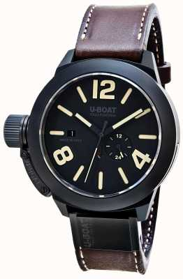 U-Boat Classico 48 Ceramic Matt Automatic Brown Leather Strap 8107