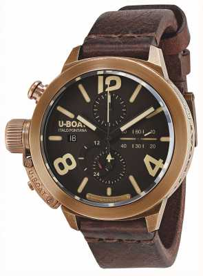 U-Boat Classico 50 Bronze CA BR Automatic Brown Leather Strap 8064