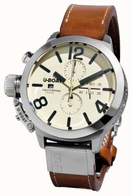 U-Boat Classico 50 Tungsteno CAS2/A Automatic Brown Leather Strap 7433/A