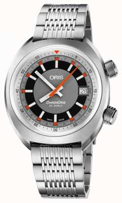 Oris Chronoris Date Grey Dial Stainless Steel Bracelet 01 733 7737 4053-07 8 19 01
