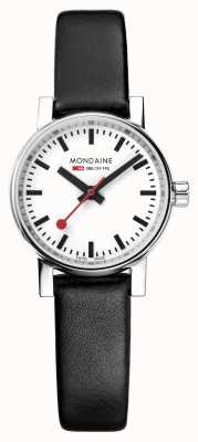 Mondaine Ladies Evo2 Petite 26mm Black Leather Strap Watch MSE.26110.LB