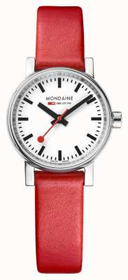 Mondaine Ladies Evo2 Petite 26mm Red Leather Watch MSE.26110.LC