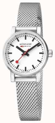 Mondaine Evo2 Petite Sapphire Crystal Stainless Steel Mesh White Dial MSE.26110.SM