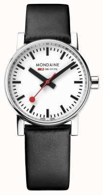 Mondaine Evo2 30mm Black Leather Strap Watch MSE.30110.LB