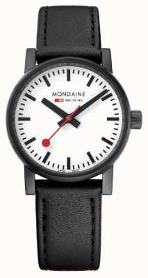 Mondaine Evo2 30mm Black Leather Black IP Watch MSE.30111.LB