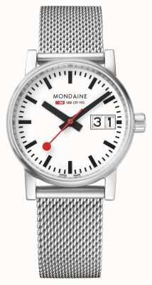 Mondaine Evo2 30mm Big Date Stainless Steel Watch MSE.30210.SM