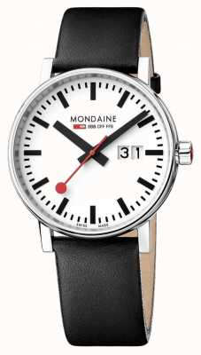 Mondaine Unisex Evo 2 Date Leather Strap Watch MSE.40210.LB