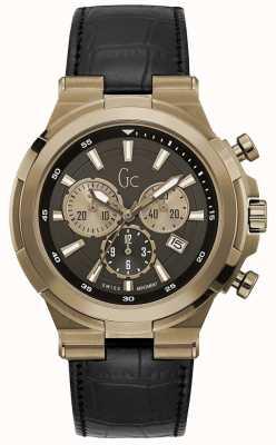 Gc Mens Structura Sport Chic Chronograph Bronze Y23012G2