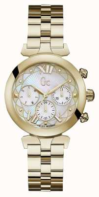 Gc Womens Ladybelle Sport 2 Gold Tone Watch Y28003L1