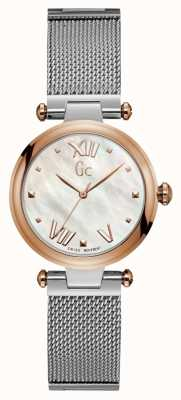 Gc Womens Purechic Sport Analogue Silver And Rose Gold Tone Y31003L1