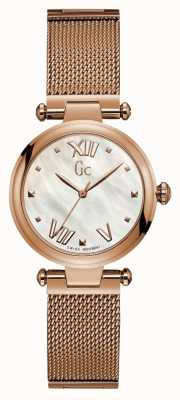 Gc Womens Purechic Sport Analogue Rose Gold Tone Y31002L1