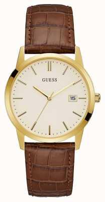 Guess Mens Camden Dress Date Watch Gold W0998G3