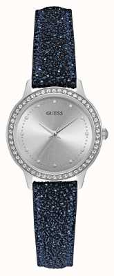 Guess Womens Chelsea Round Silver Watch W0648L20