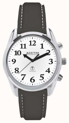 Acctim Robin Radio Controlled Talking Black Leather Watch 60543