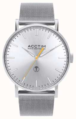 Acctim Mens Sterling Radio Controlled Stainless Steel Mesh Watch 60427