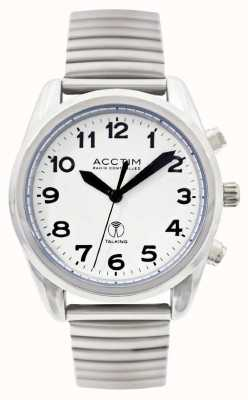 Acctim Mens Highview Radio Controlled Talking Stainless Steel Watch 60343-cw197
