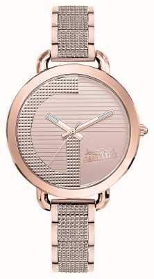 Jean Paul Gaultier Womens Index G Rose Gold PVD Bracelet Rose Gold Dial JP8504323