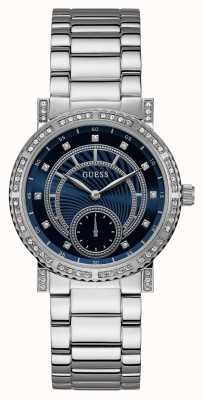 Guess Womens Constellation Silver Tone Watch W1006L1