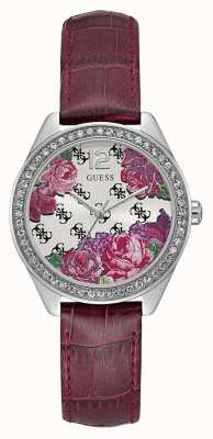 Guess Womens Mini Rose Purple Leather Strap W0905L2