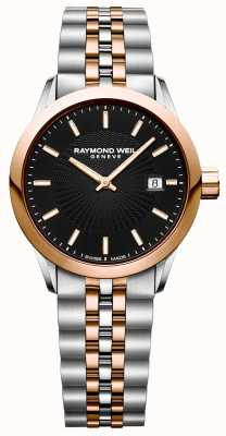 Raymond Weil Womens Freelancer Quartz Watch Two Tone Bracelet 5629-SP5-20021
