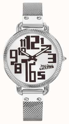 Jean Paul Gaultier Womens Index Stainless Steel Mesh Silver Dial JP8504311